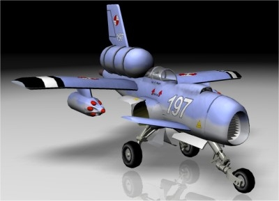 free steam powered fighter 3d model