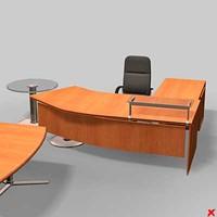 3d office table model