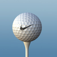Realistic Golf ball & Golf Tee