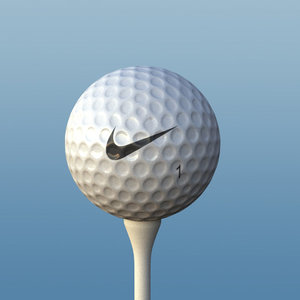 realistic golf ball tee 3d lwo