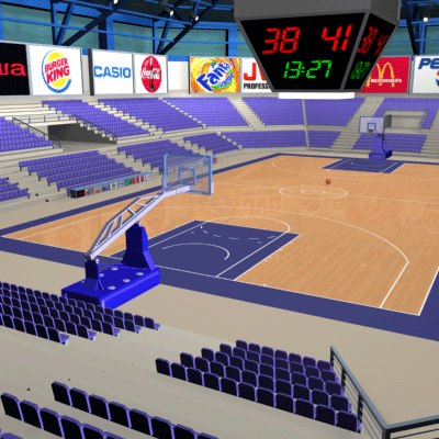 basketball arena ball 3d max