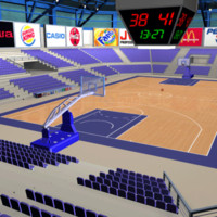 3ds max basketball arena ball