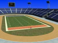 3d us-football field