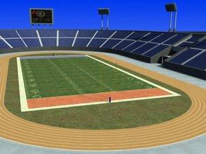 3d us-football field