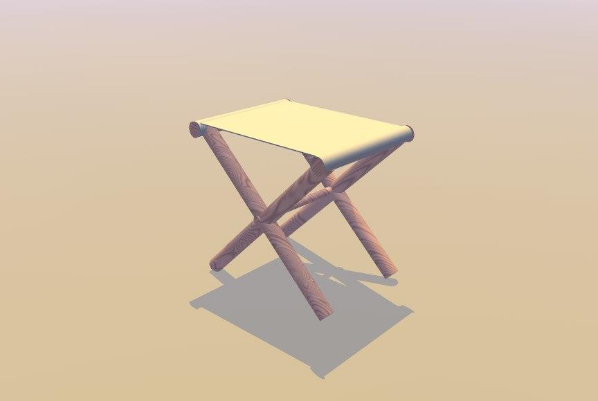 3d civil war stool