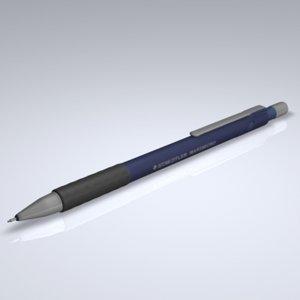 3d model mechanical pencil pen