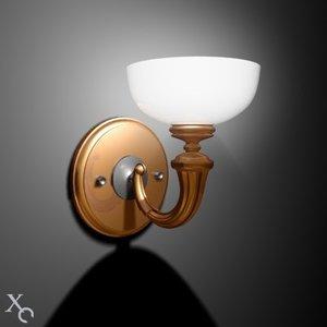light steel gold 3d model
