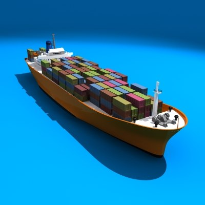 container ship fbx