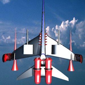 3dsmax space ship