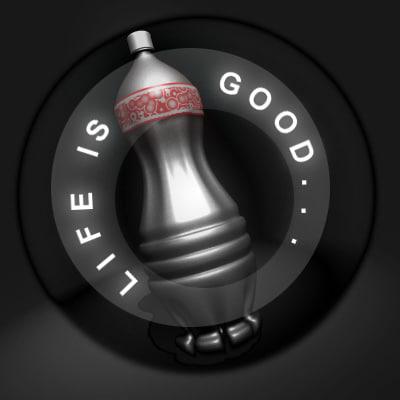 bottle drink 3d model