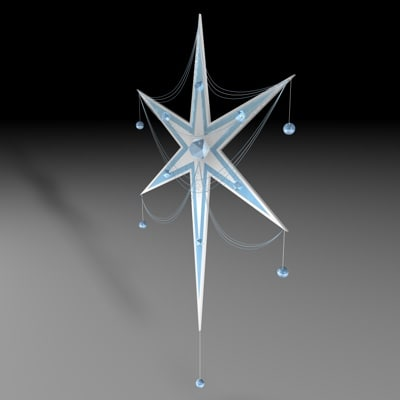 c4d snowflake ornament christmas tree