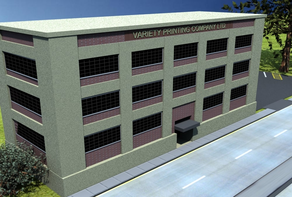 3ds max building warehouse