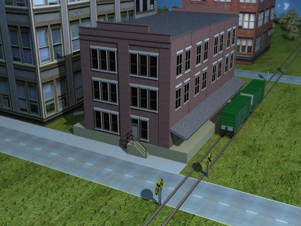 railway building 3d 3ds