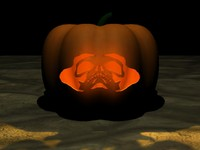 Skull Pumpkin Jack-o-lantern