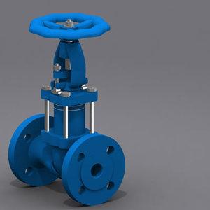 3d model valve bellows sealed globe