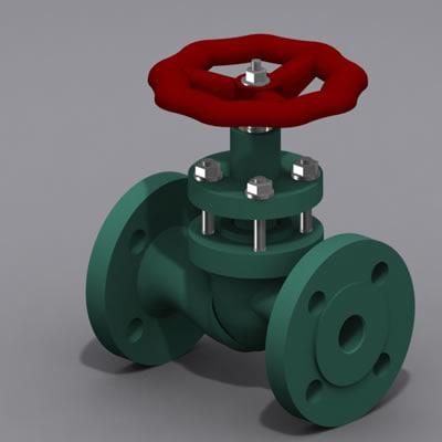 3d 3ds valve piston type modeled
