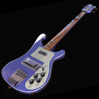 string bass guitar 3d model