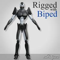 3d robot biped