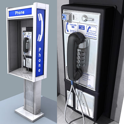 payphone street 3d model