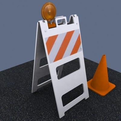 construction barricade 3d model