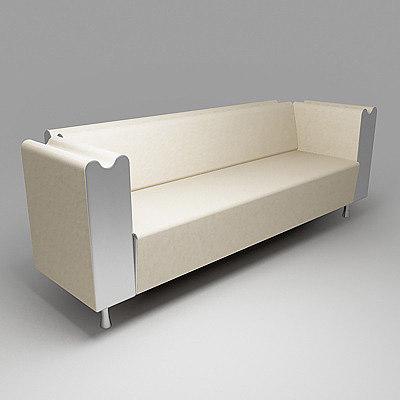 moroso m sofa 3d model