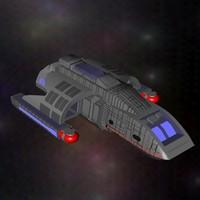 ds9 shuttle 3d model