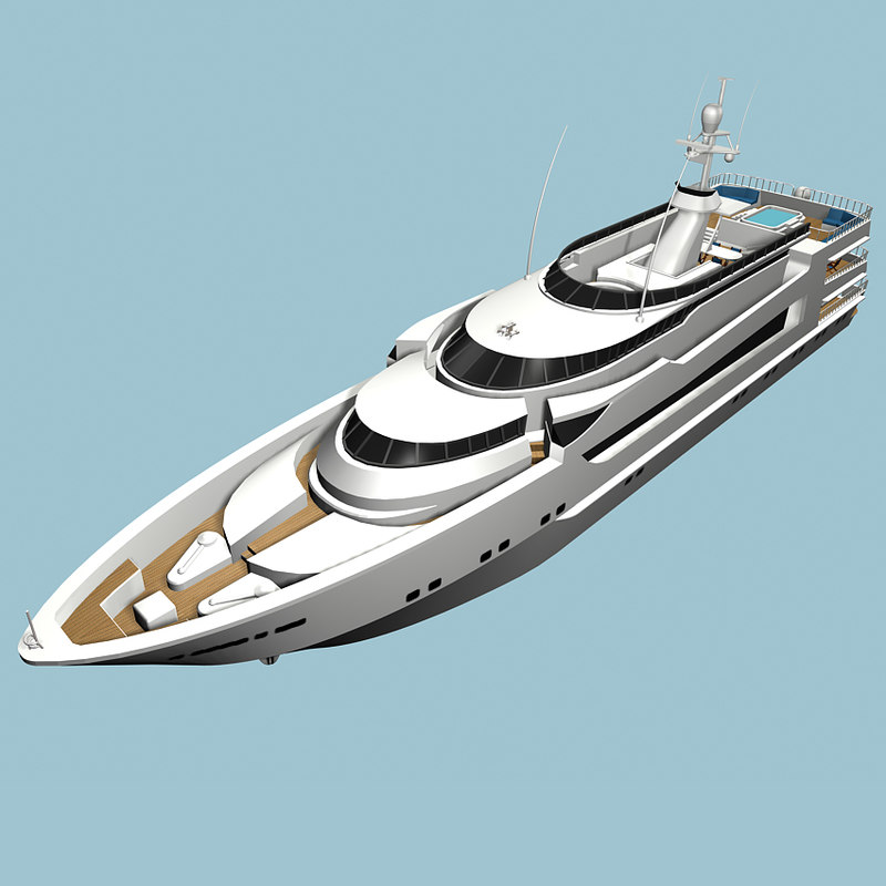 3d luxury super yacht model