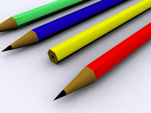 3ds office pencils