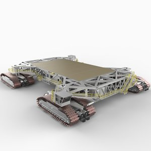 nasa crawler transporter vehicle 3d model