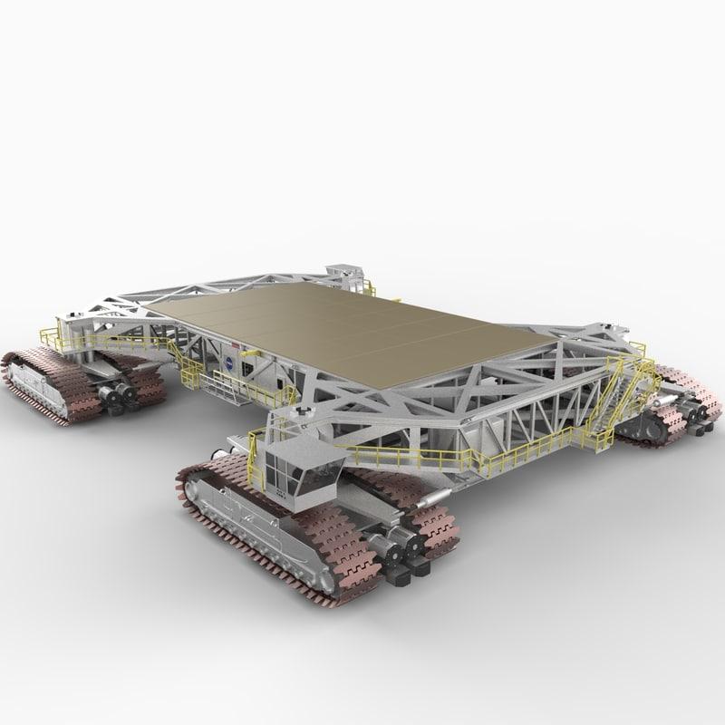nasa crawler transporter vehicle 3d model
