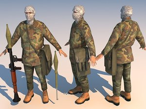 iraq terrorist 3d model