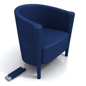 moroso ritz 61 chair 3d model