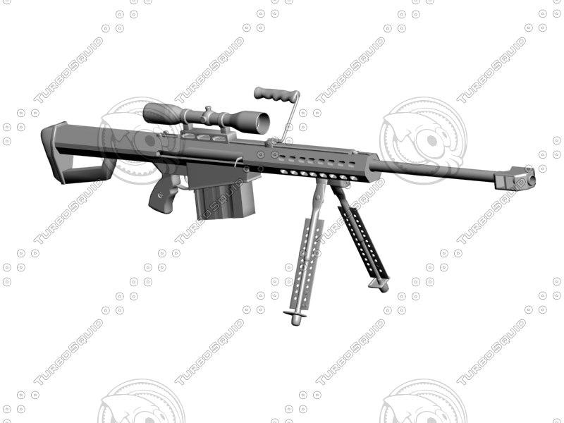 3ds barrett m82a1 rifle