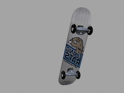 3ds max skate board skateboard