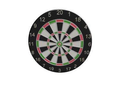 3d dart board