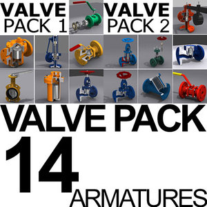 3d valve pack model