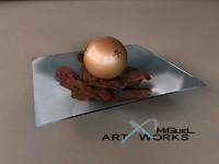 3d decorative rose petals ball model