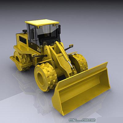 compactor industrial 3d model
