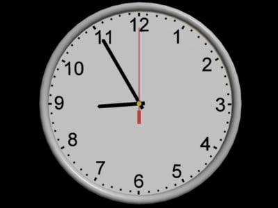 clock hands time 3d 3ds