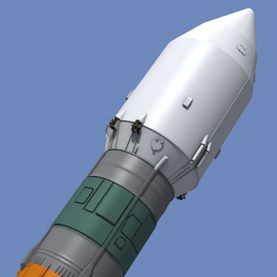 space launcher fregat soyuz-fregat 3d max