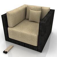 3d model armani sydney chair