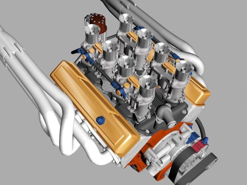 chevrolet race 3d model