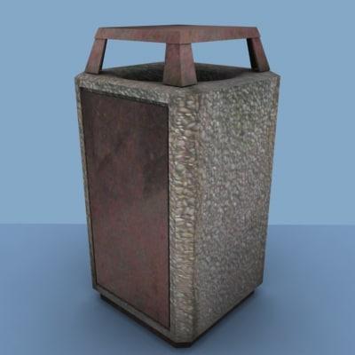 free max model trashcan street