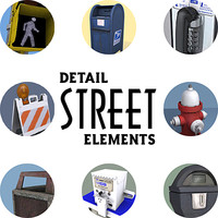 max street elements payphone mailbox