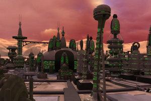 martian alien city 3d model