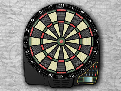 electronic darts 3d model