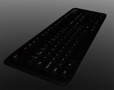 desktop keyboard keys 3d model