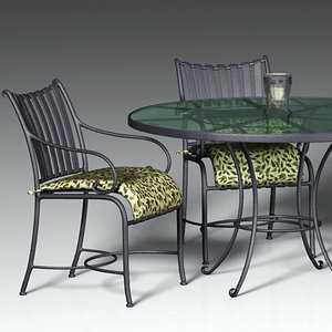 wrought iron patio set 3ds