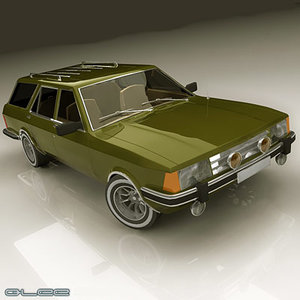 old station wagon car 3d model