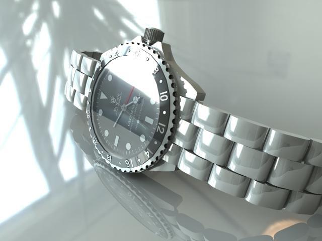 watch rolex 3d model